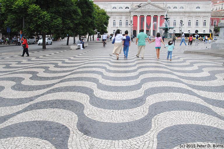 Praca Dom Pedro IV (Rossio Square), Lisbon, Portugal